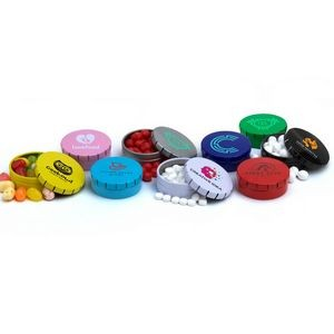 Small Round Clicker Tin